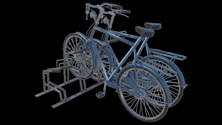 fietsparkeersysteem met voorvork ondersteuning