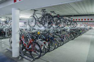 etagerekken voor optimaal gebruik van fiets parkeerruimte