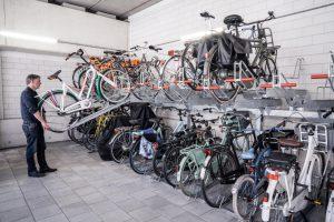 compact fietsparkeren in kleine ruimtes